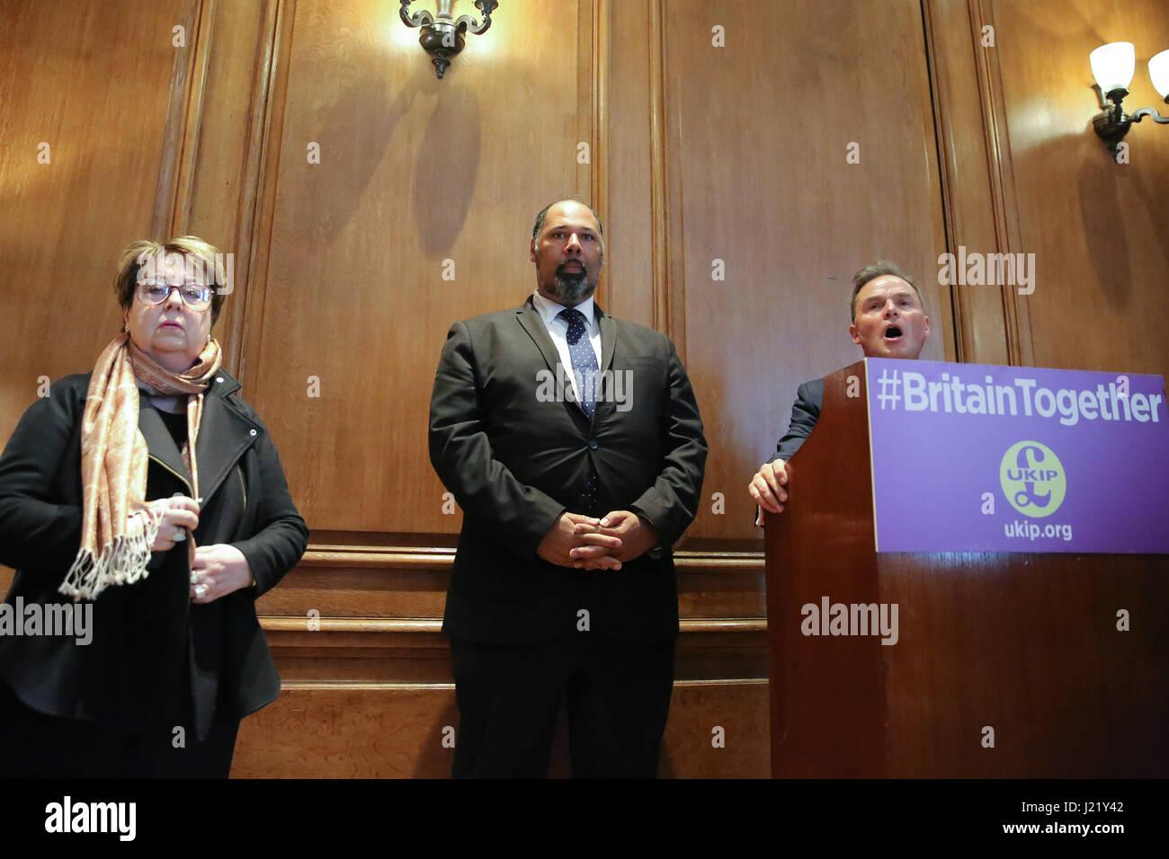 London, UK. 24th April, 2017. UKIP Women and Equalities Spokesman Westminster, London. UK 24 Apr 2017. Margot Parker Stock Photo