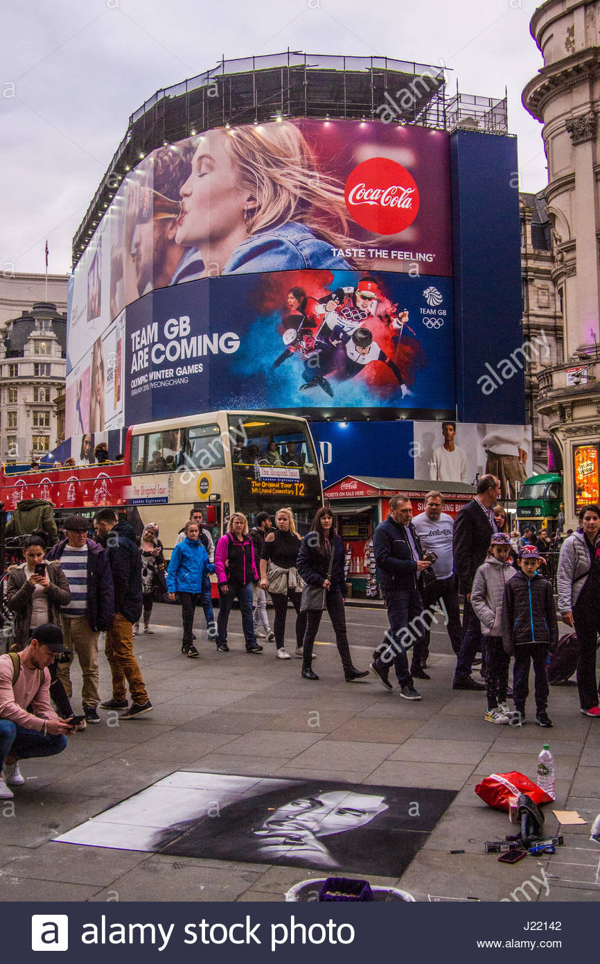 Piccadilly Circus London Stock Photo
