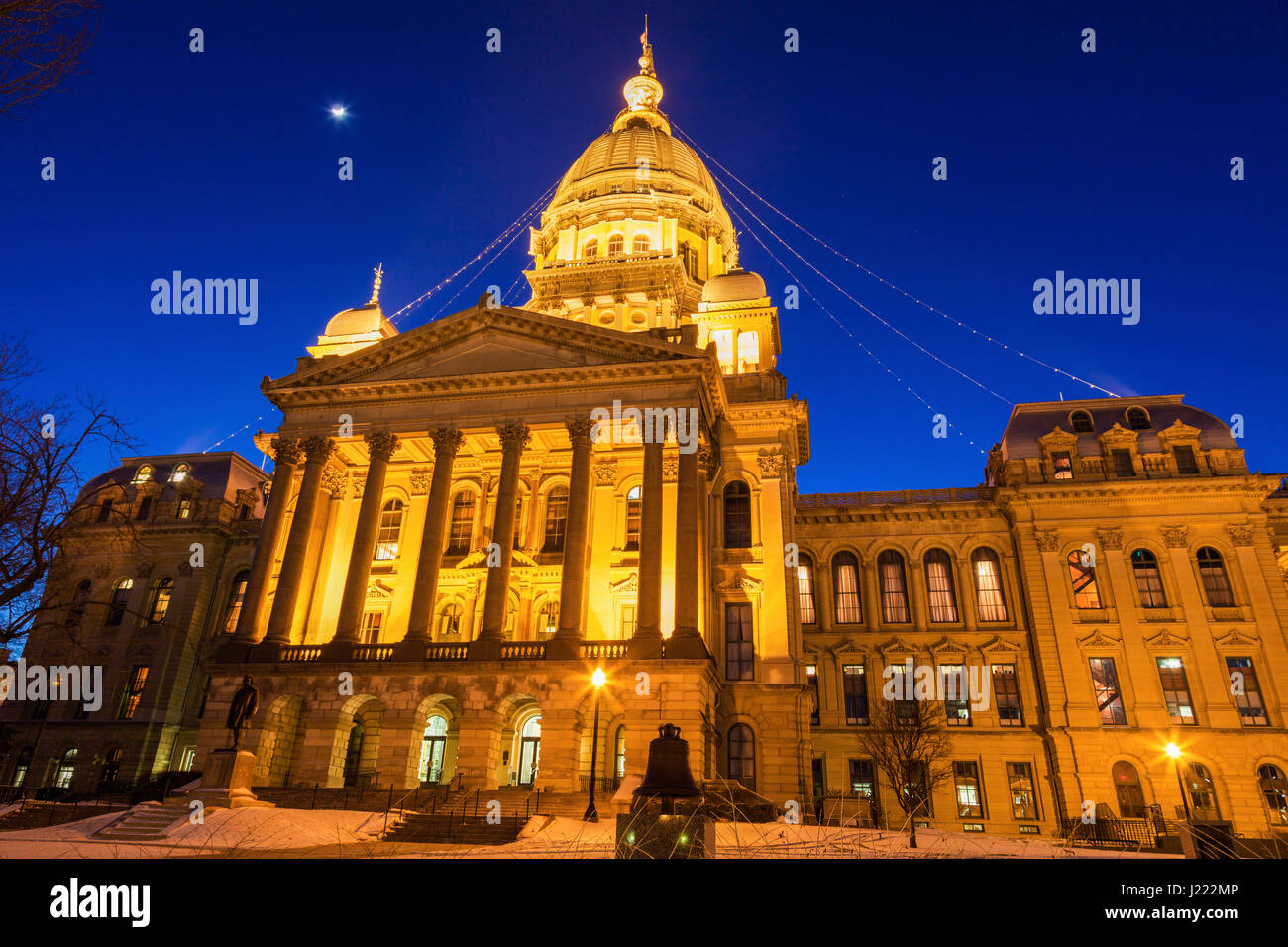 Springfield, Illinois - entrance to State Capitol Building. Springfield, Illinois, USA. - Stock Image