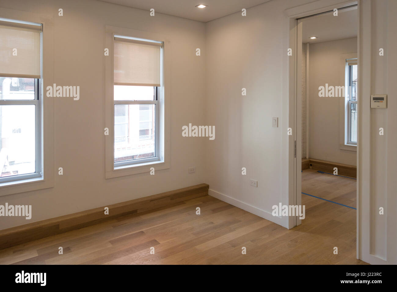 A newly renovated two-bedroom apartment for rent in Lower Manhattan - Stock Image
