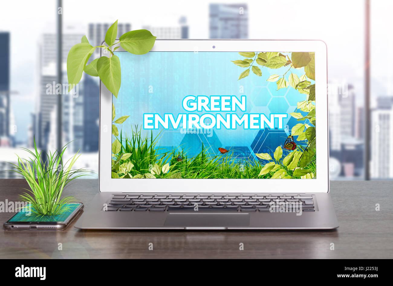 Business Project - save the world  Ecology concept Stock