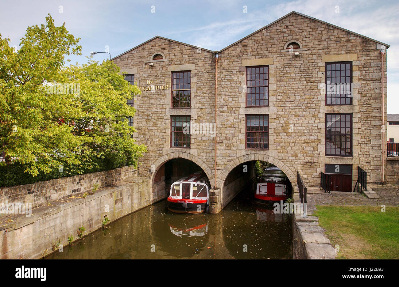 Wigan Pier. The pub based there is called the George Orwell. Stock Photo