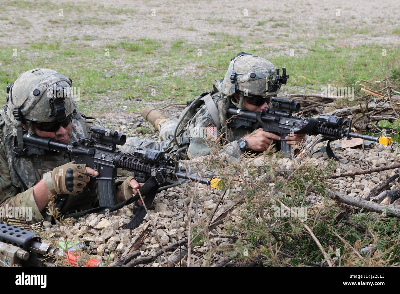 Soldiers from C Co  1-293rd Infantry Battalion, 76th