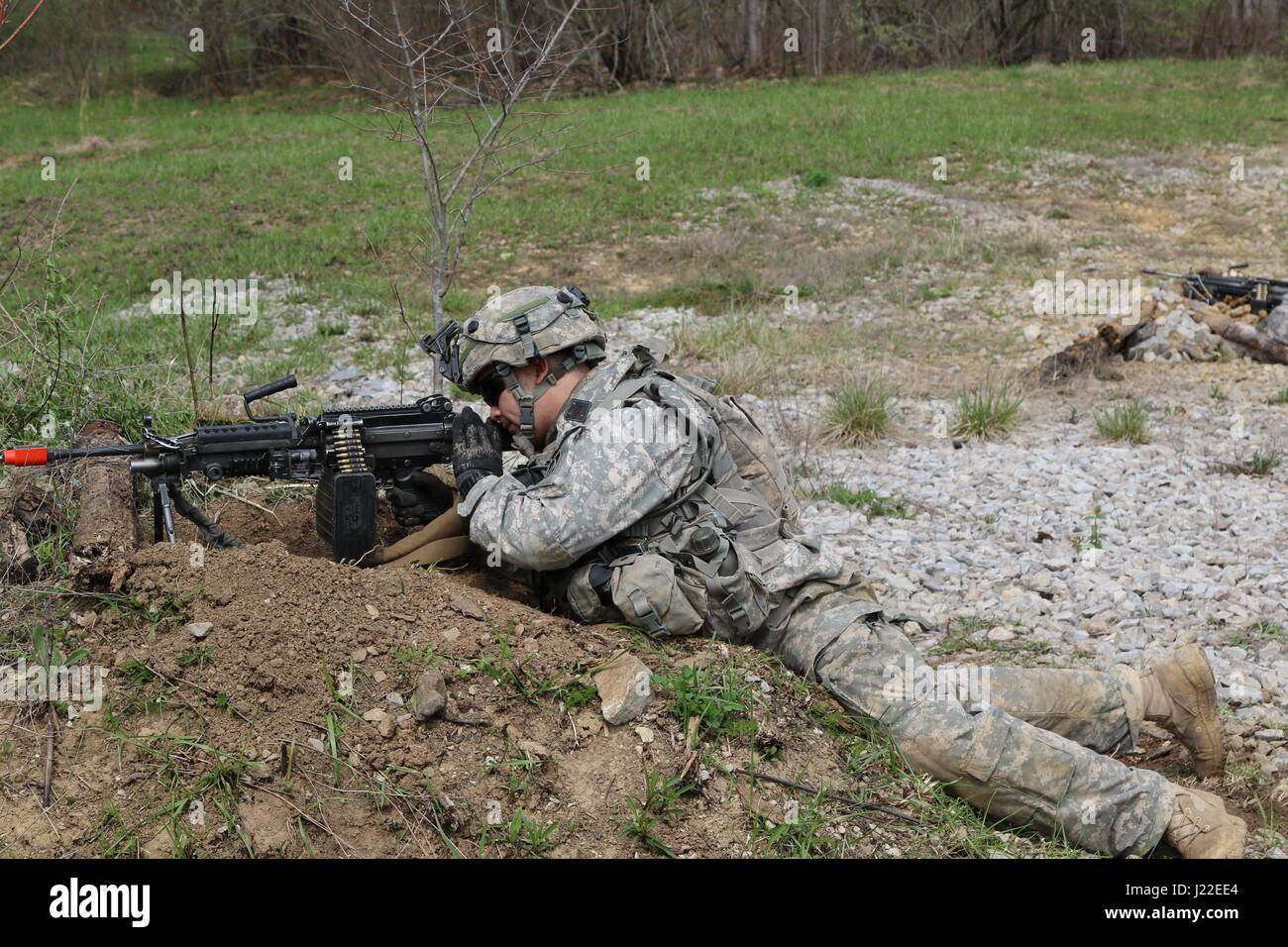 Soldier from C Co  1-293rd Infantry Battalion, 76th Infantry