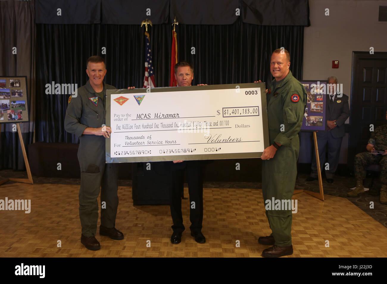 MARINE CORPS AIR STATION MIRAMAR, Calif. – Michael Clausen, center, The Marine Corps Air Station Miramar Marine Stock Photo