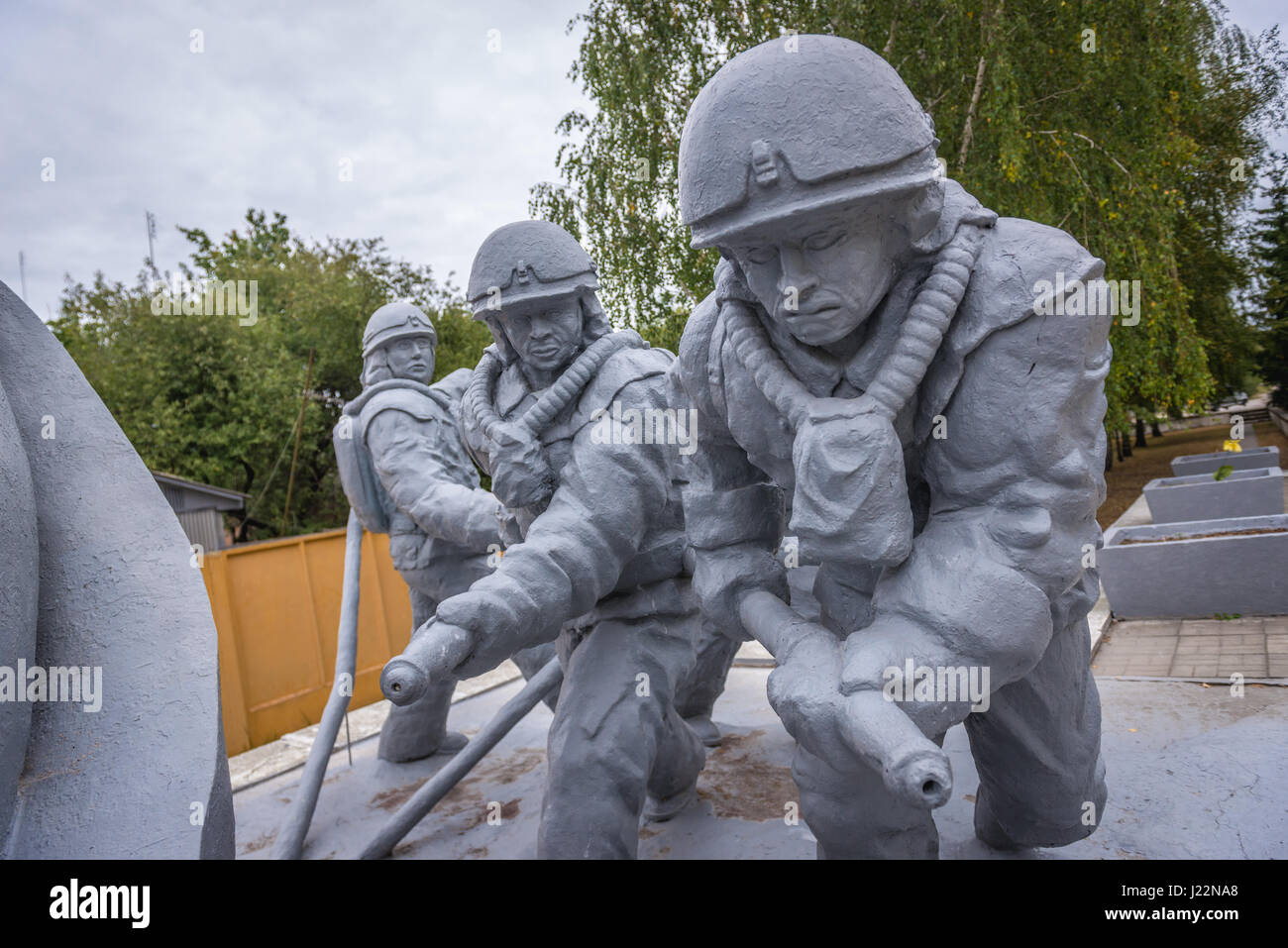 Memorial to the firemen died after accident in Chernobyl