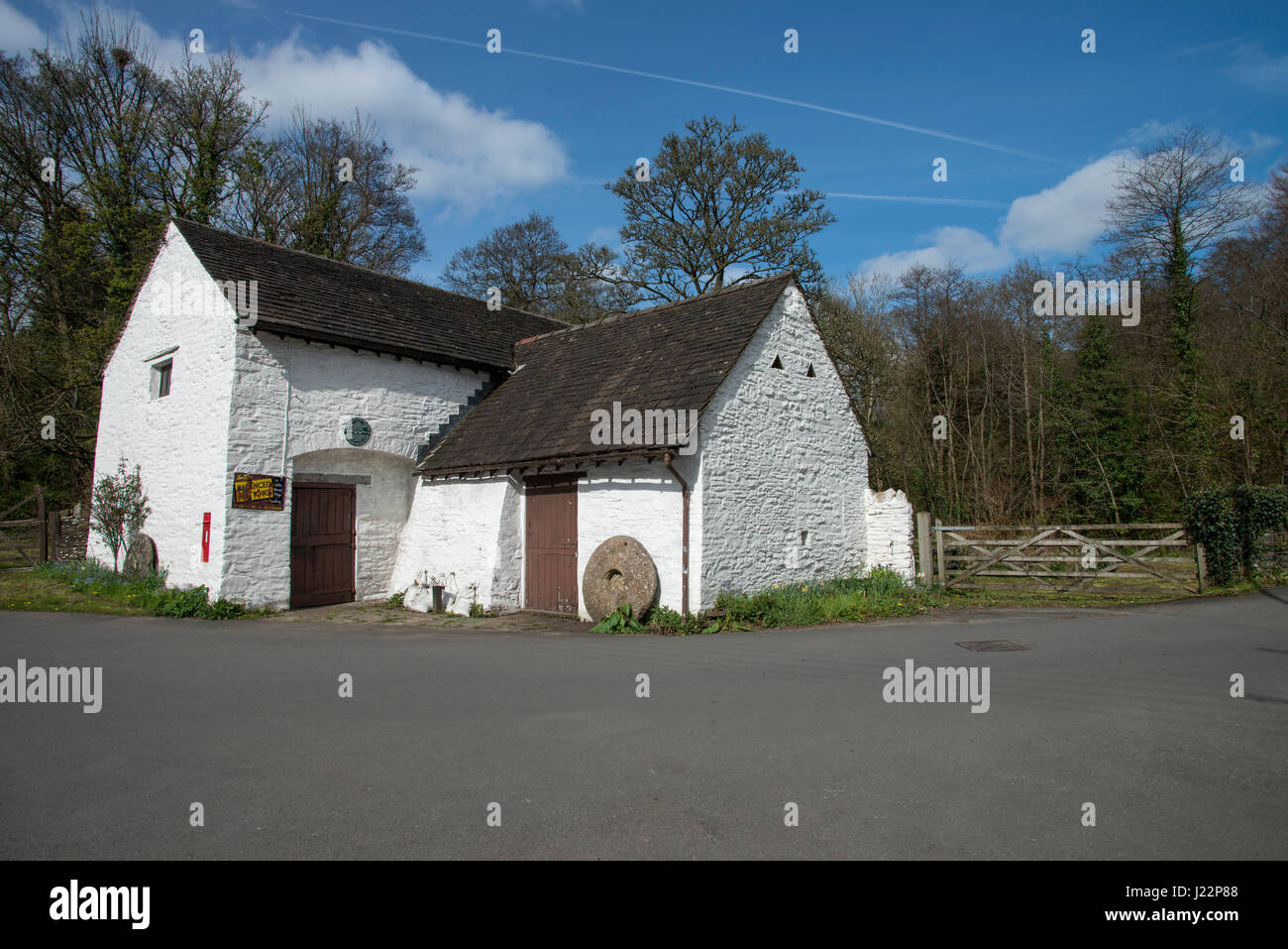 Gelligroes Mill near Pontllanfraith, South Wales. A water mill dating back to 1625. Stock Photo