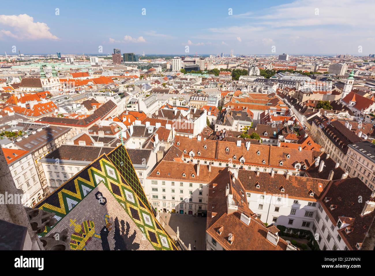 Österreich, Wien, Stadtansicht, Skyline - Stock Image
