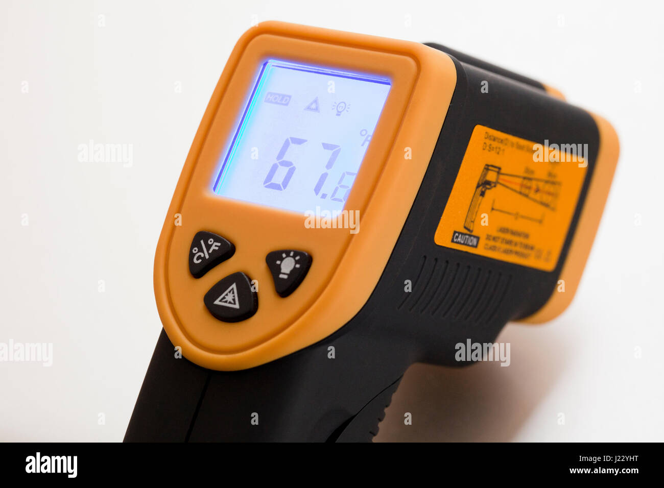 Digital infrared thermometer - USA - Stock Image