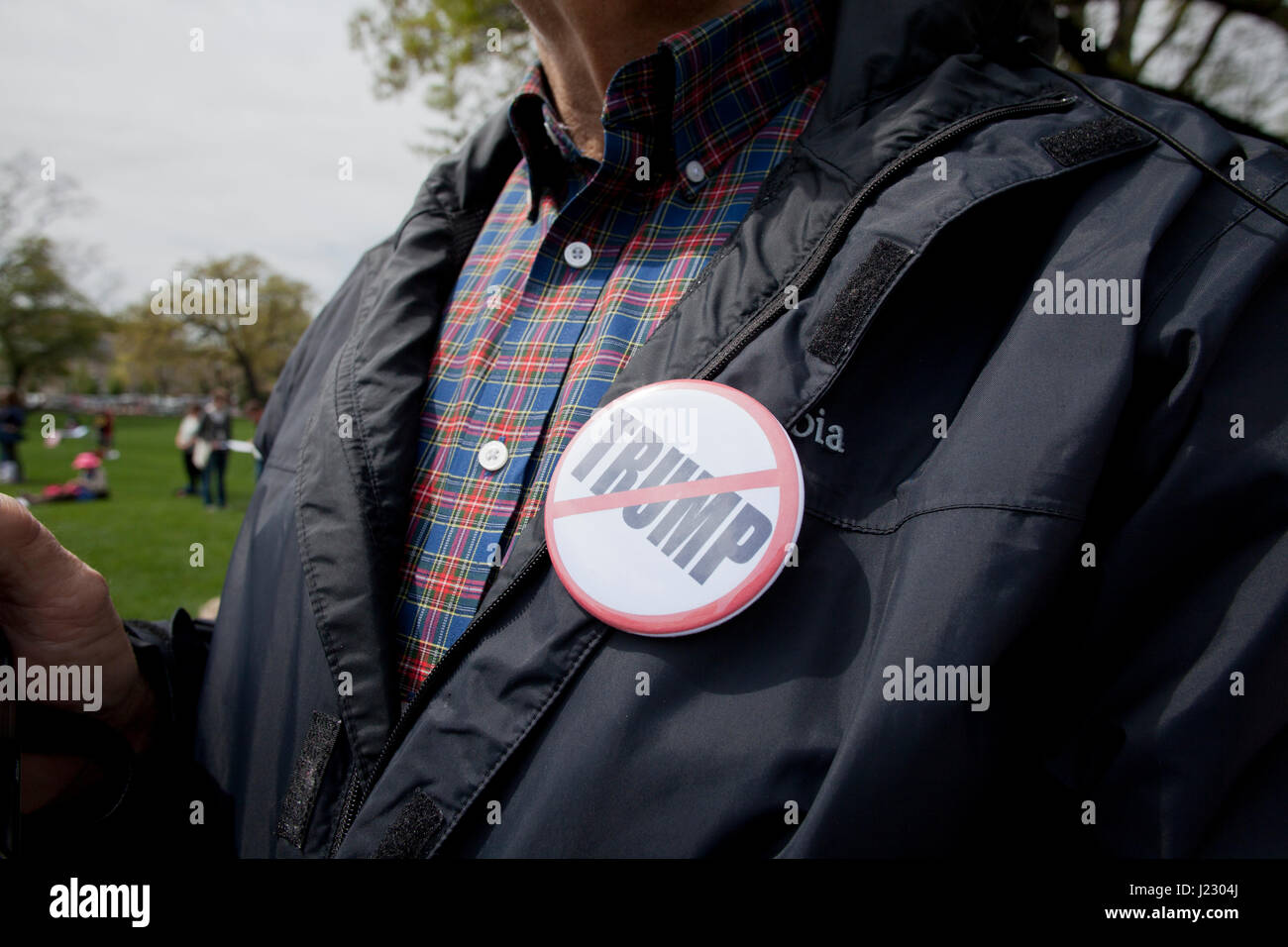 Anti-Trump protesters at the US Capitol building during TaxMarch - Washington, DC USA - Stock Image