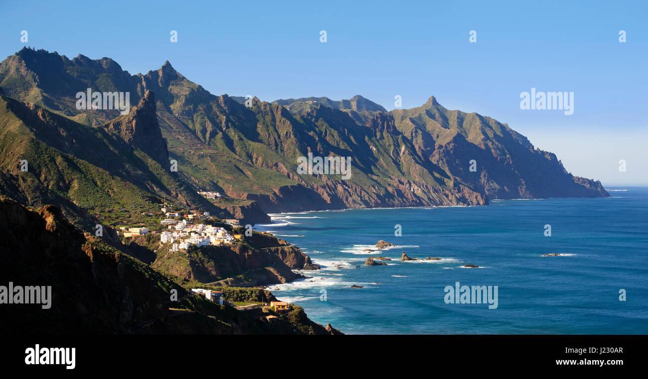 Dorf Almaciga, Anaga-Gebirge, Teneriffa, Kanarische Inseln, Spanien - Stock Image