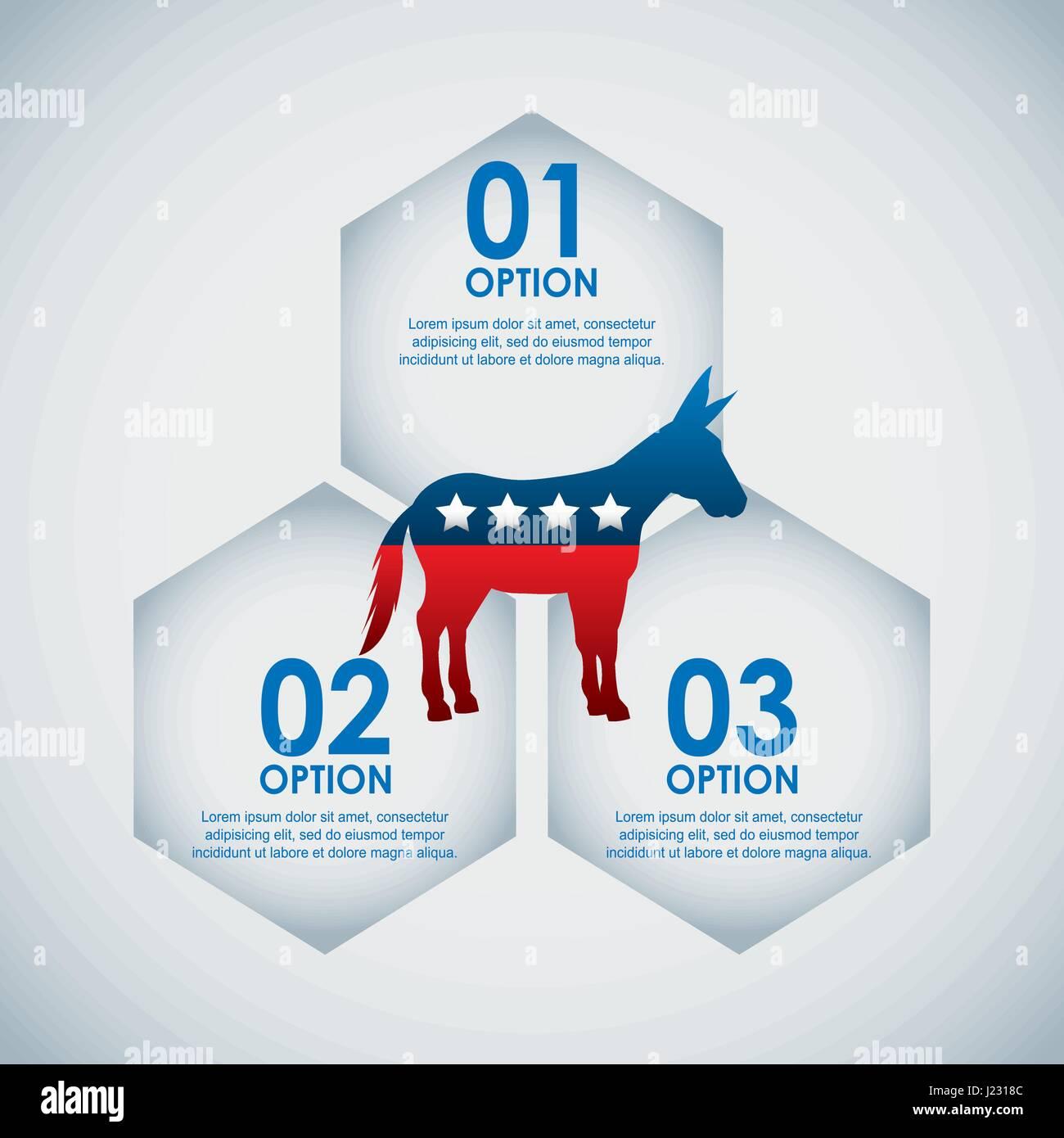 democrat party usa isolated icon - Stock Image