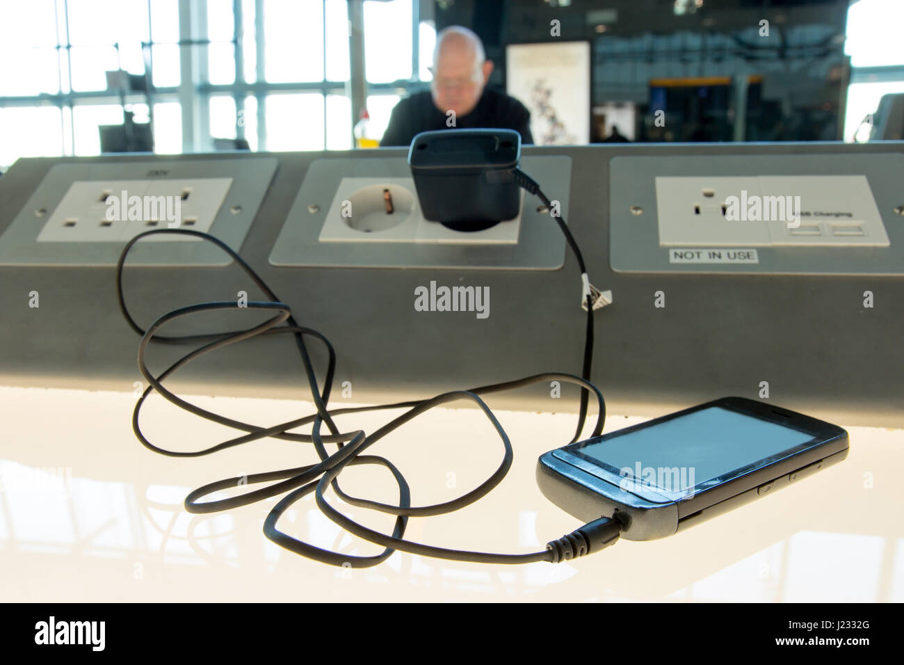 Mobile Phone Charging Station Stock Photos Amp Mobile Phone