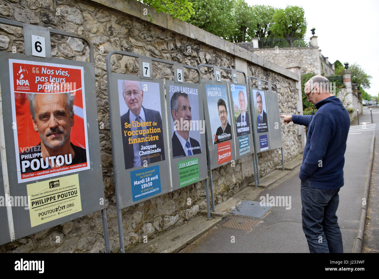 French presidential election candidates, France April 2017. MR - Stock Image