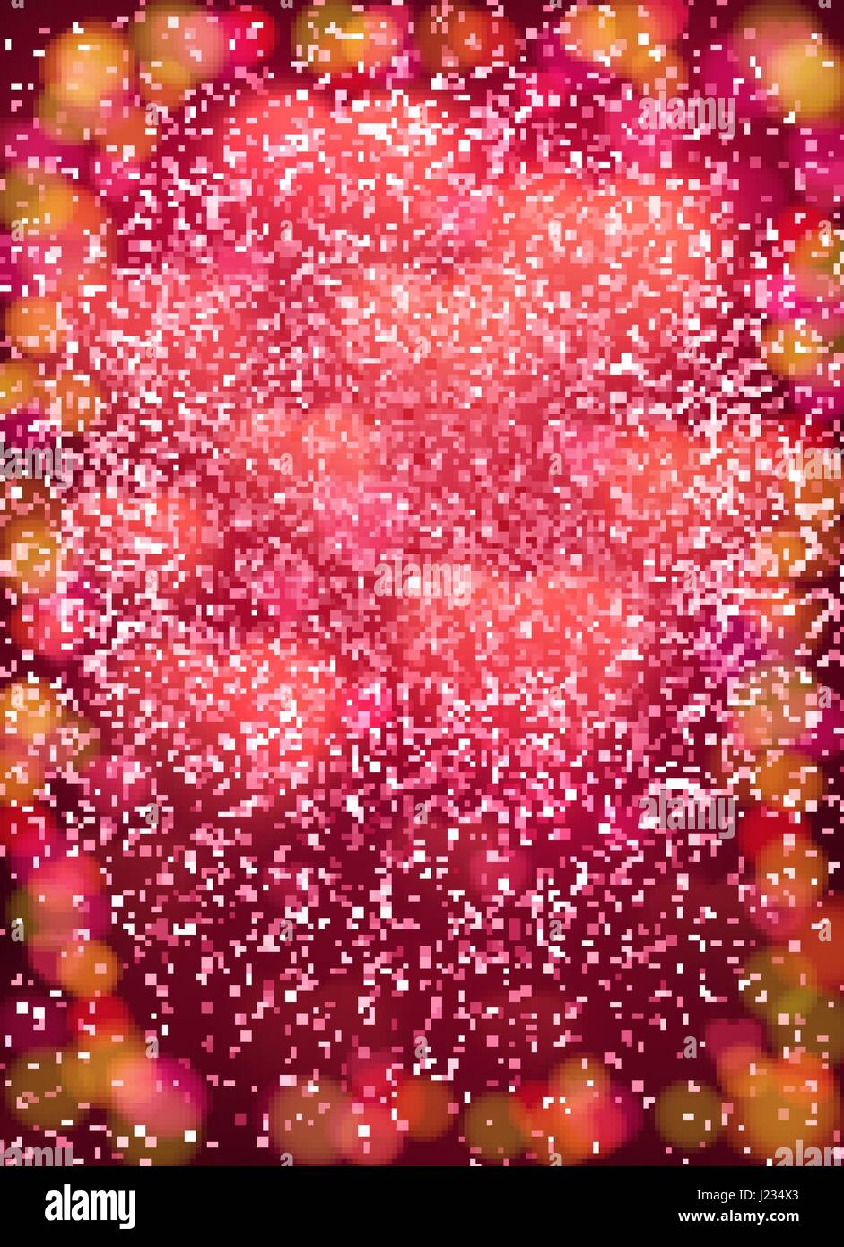Heart Background With Cloud Of Glowing Blurred Soft Hearts Glitter