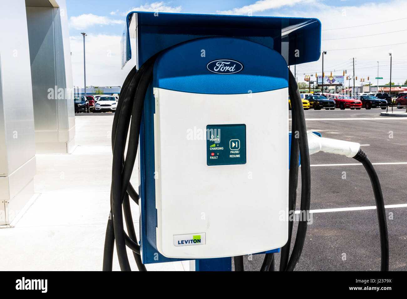 Indianapolis - Circa April 2017: Leviton Electrical Charging Station ...