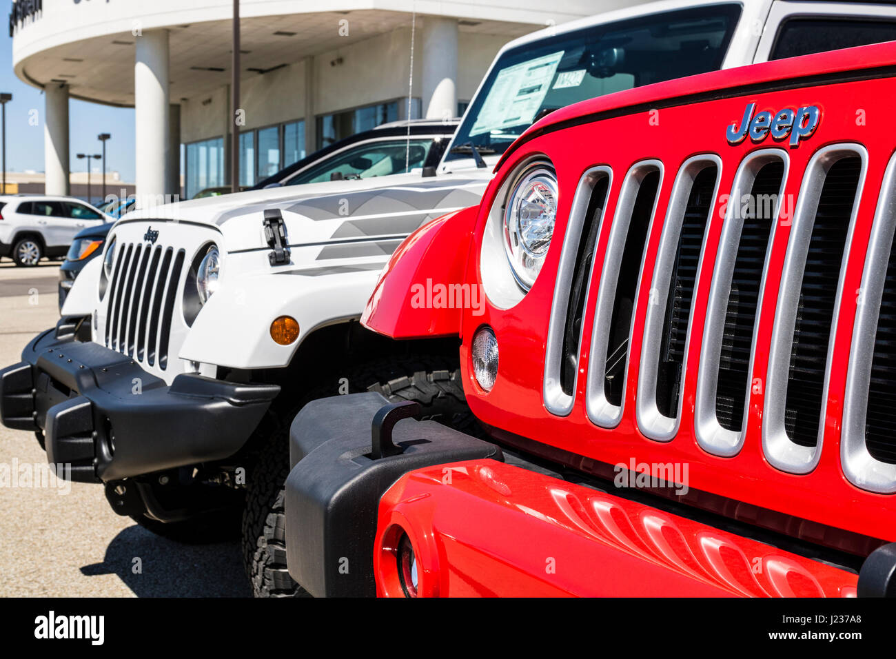 Jeep Dealership Indianapolis >> Indianapolis Circa April 2017 Jeep Automobile Dealership Jeep Is