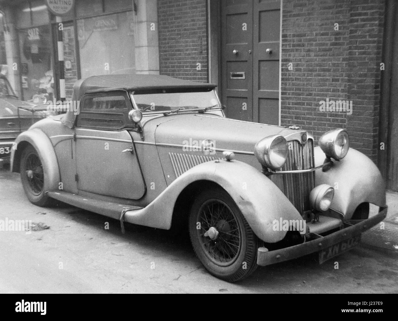 1939 Lea-Francis 1.5 litre Corsica body roadster. - Stock Image