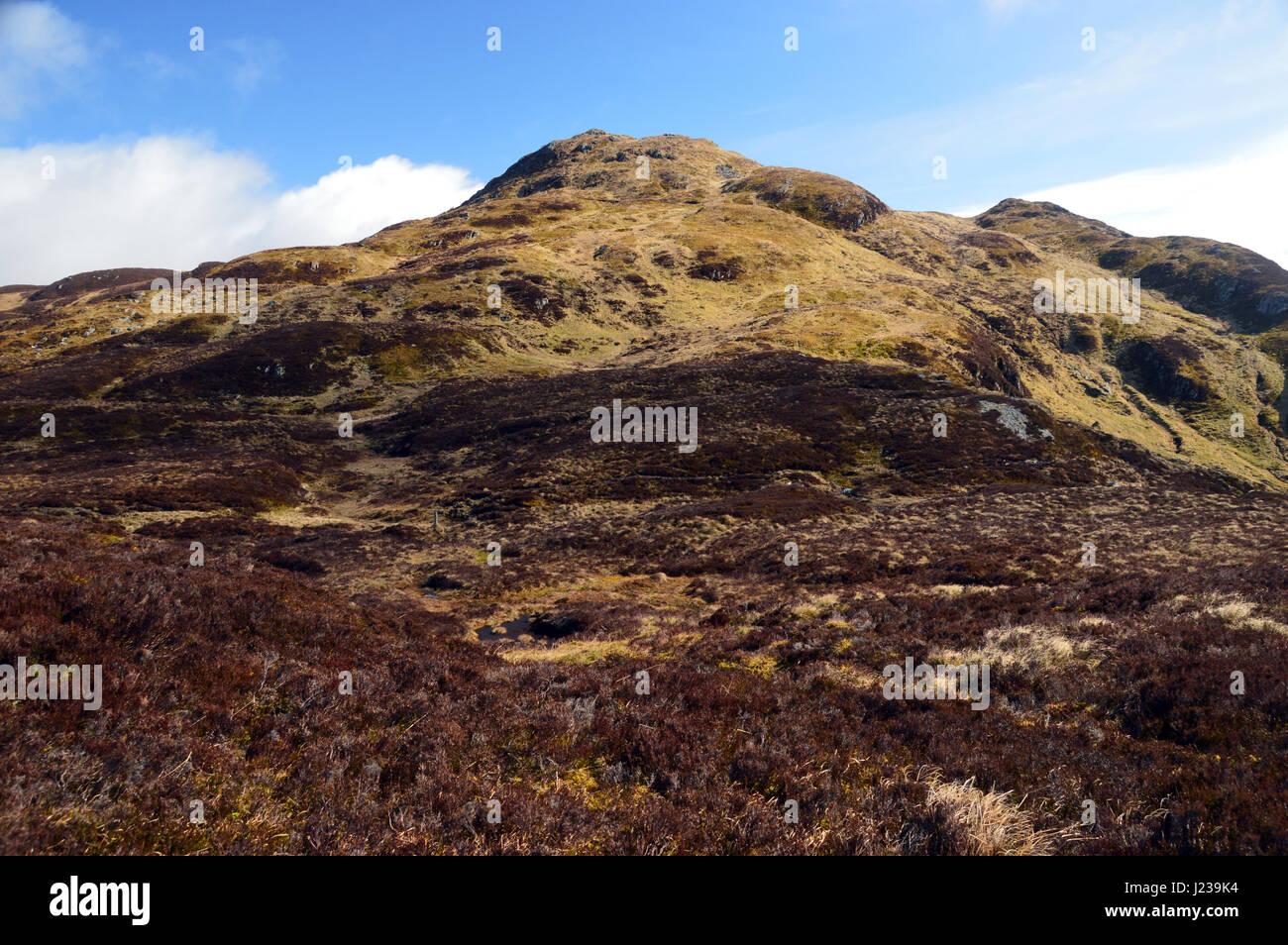 The Scottish Mountain Corbett Farragon Hill from near the Foss Barytes Mine Aberfeldy, Scottish Highlands. - Stock Image