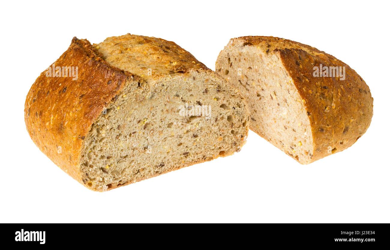 Fresh whole wheat multi grain brown bread - Stock Image