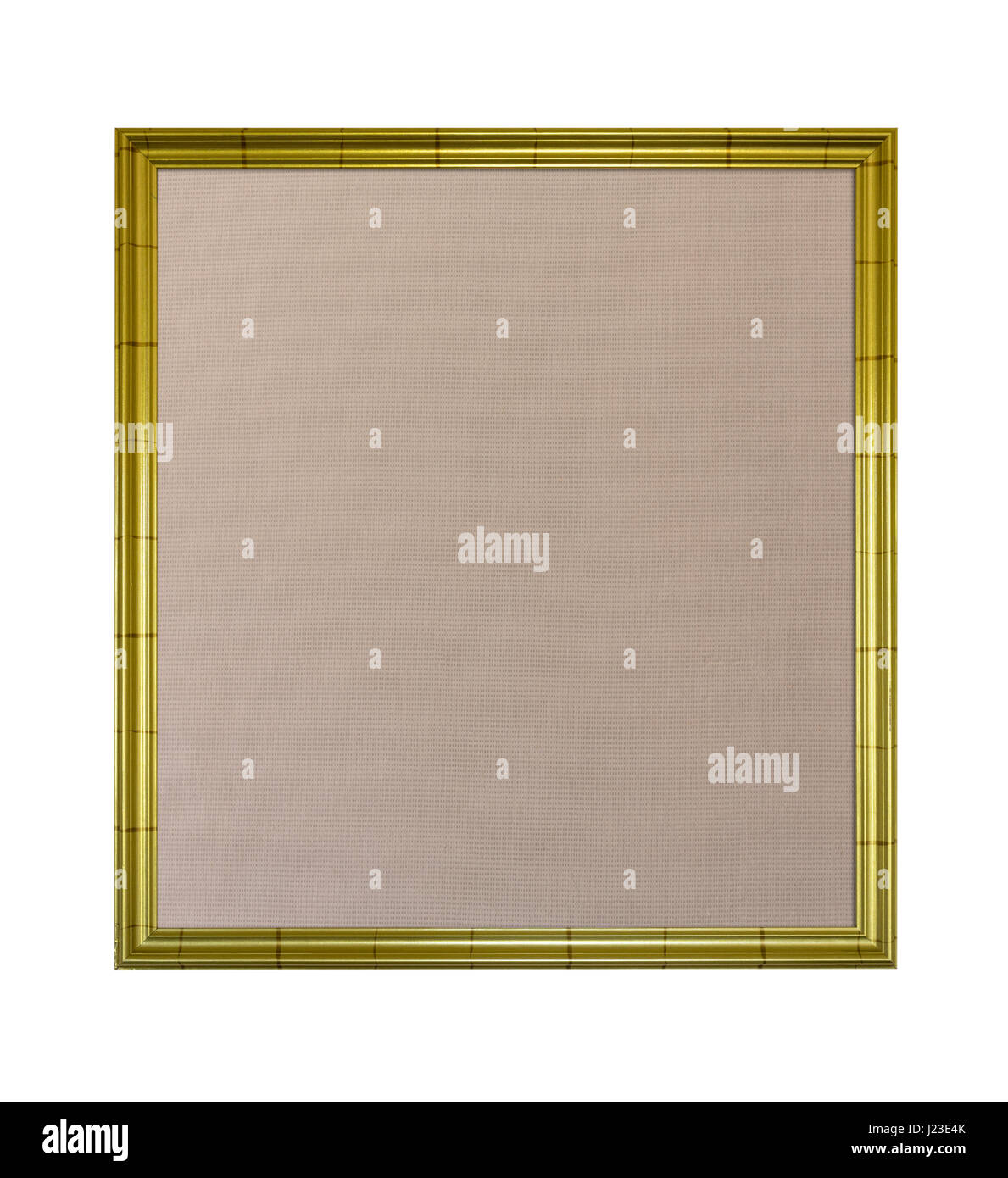 Picture frame in gold with pinboard noticeboard interior - Stock Image