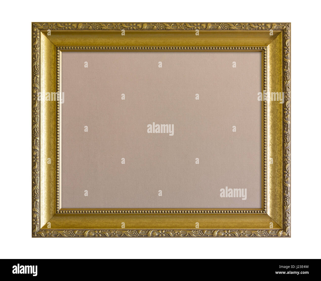 Ornate gold picture frame - Stock Image