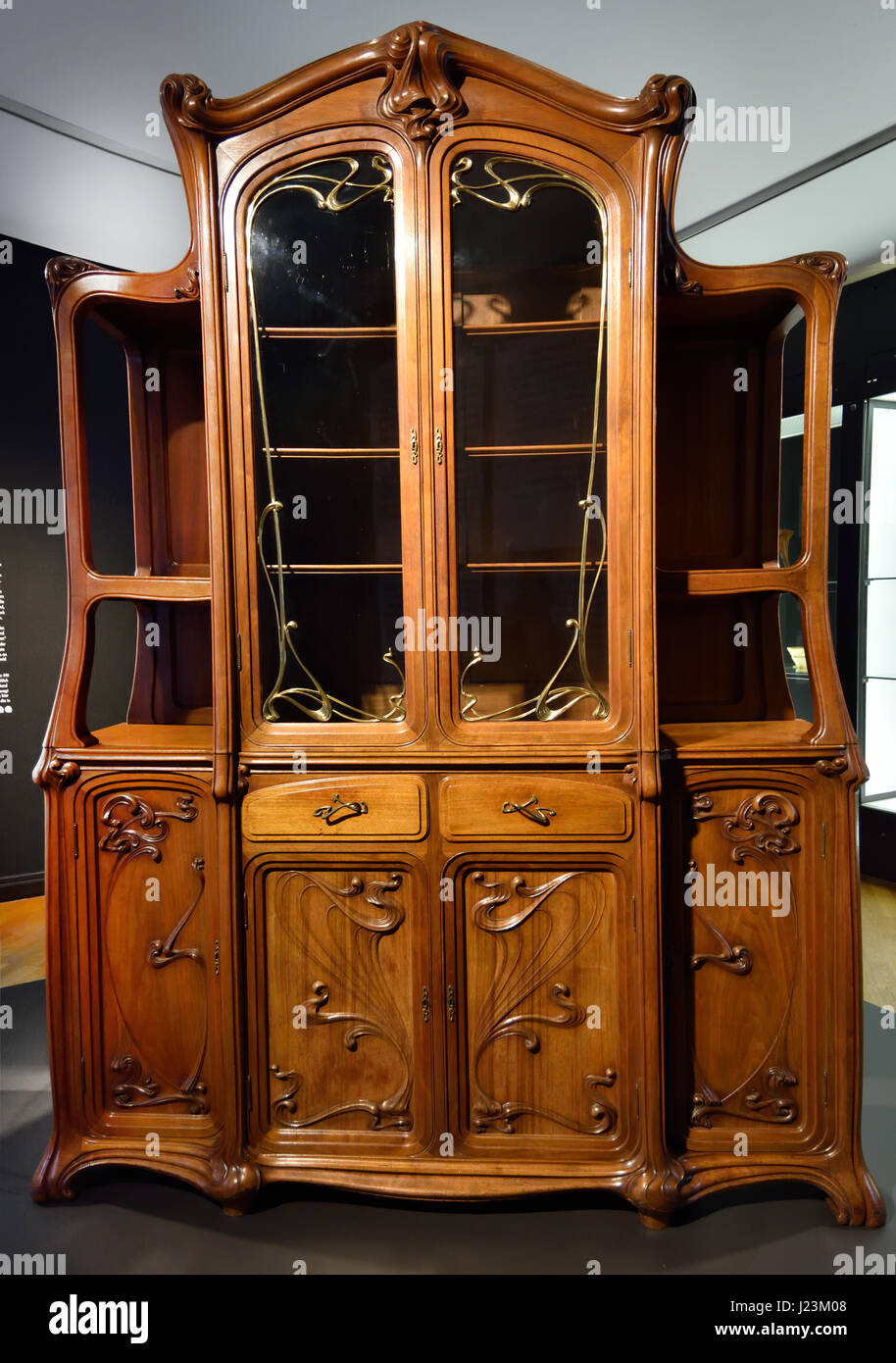Showcase 1899 design Gaillard Eugene from a dining room LART Stock