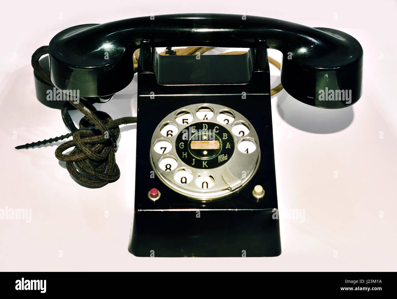 Bauhaus phone 1920 version H.Fuld & Co. Telefonbau and Normazeit (GmbH, Frankfurt am Main) - Stock Image