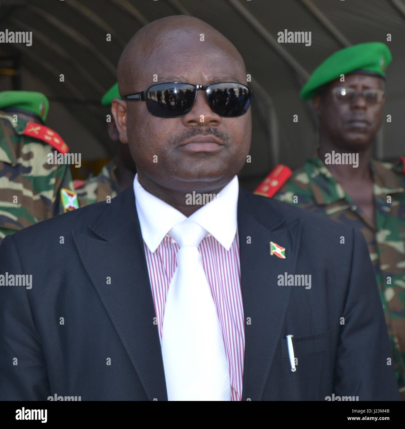 Somalian African Union Mission Force Commander Silas Ntiguriwa arrives for a familiarization tour November 29, 2013 - Stock Image