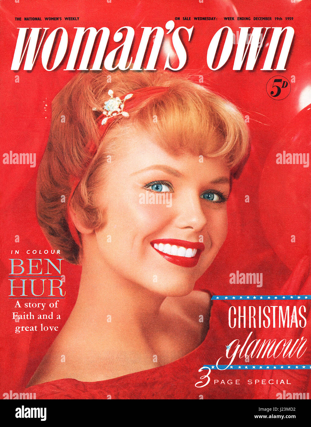 Front cover of Woman's Own magazine for the week ending December 19th 1959. A Christmas issue featuring photography - Stock Image