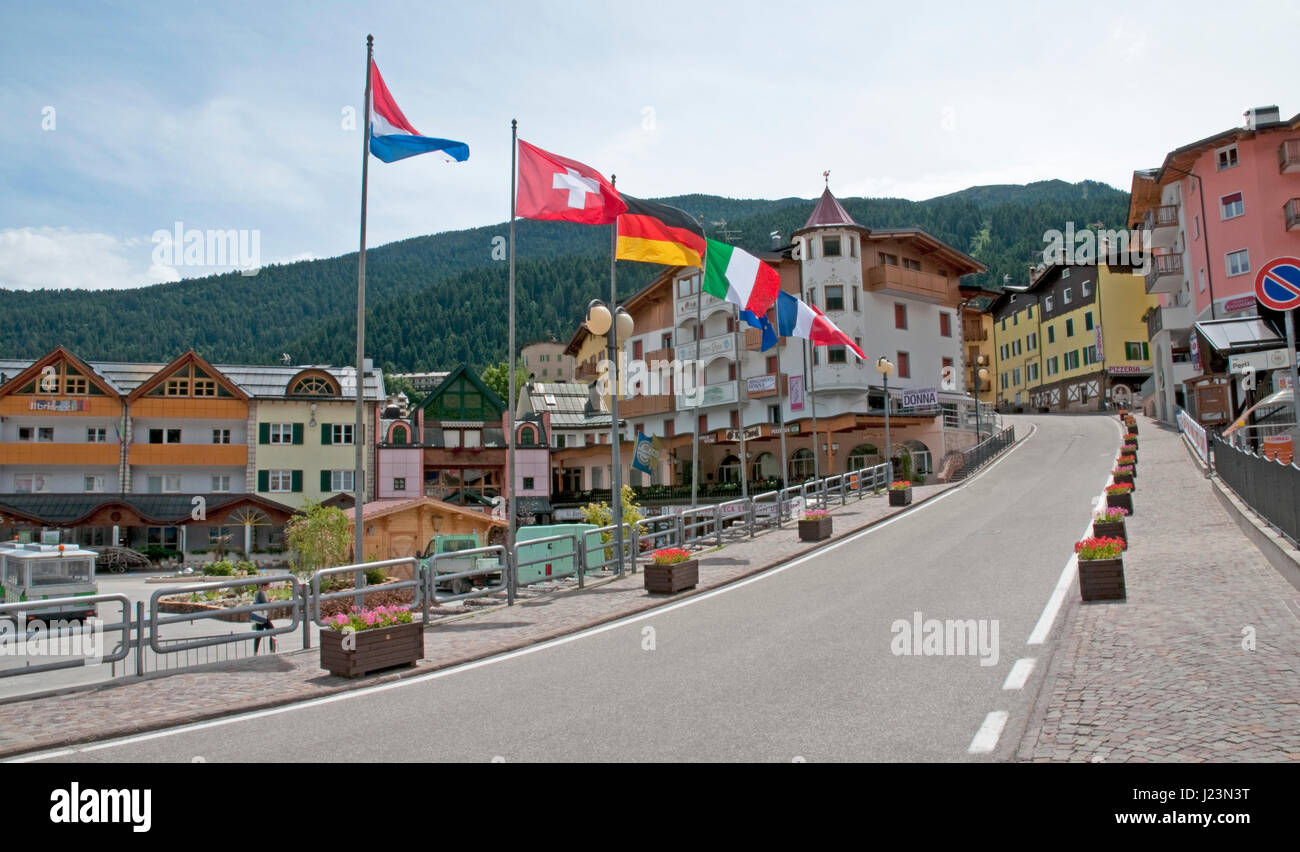 THe town centre of Andalo in the Alto Adige of northern Itlay ...