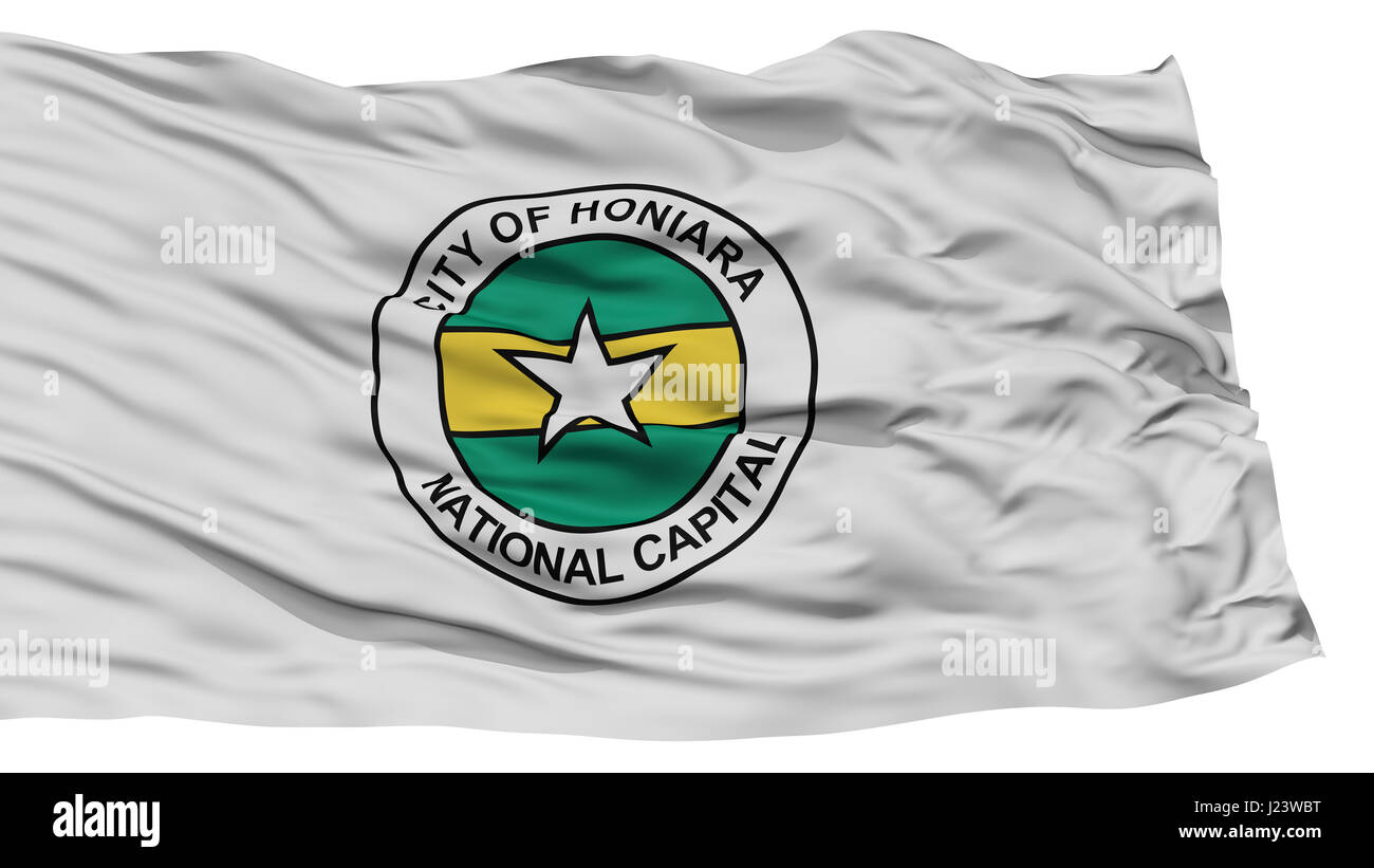 Isolated Honiara City Flag - Stock Image