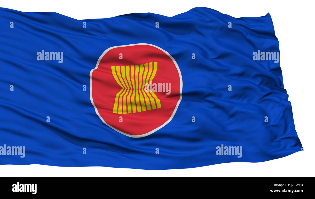Isolated ASEAN Flag - Stock Image