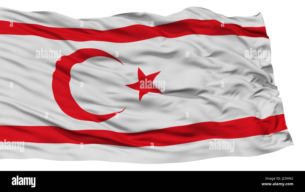 Isolated Northern Cyprus Flag - Stock Image
