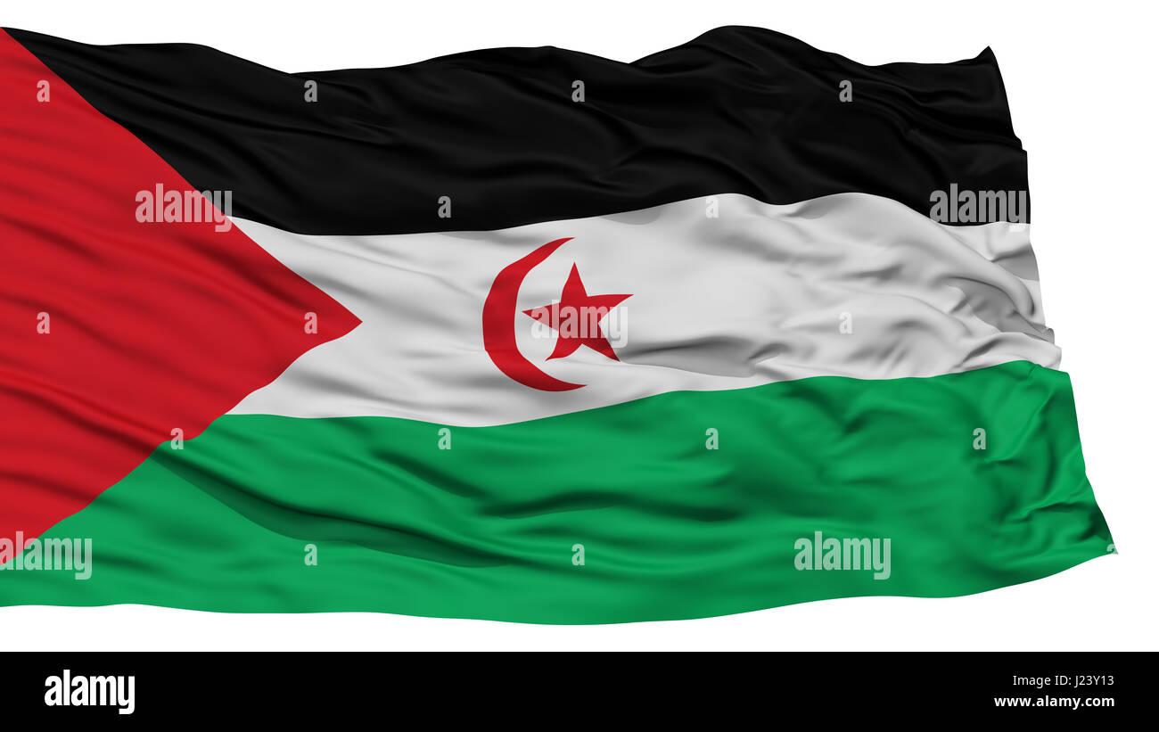 Isolated Sahrawi Arab Democratic Republic Flag - Stock Image
