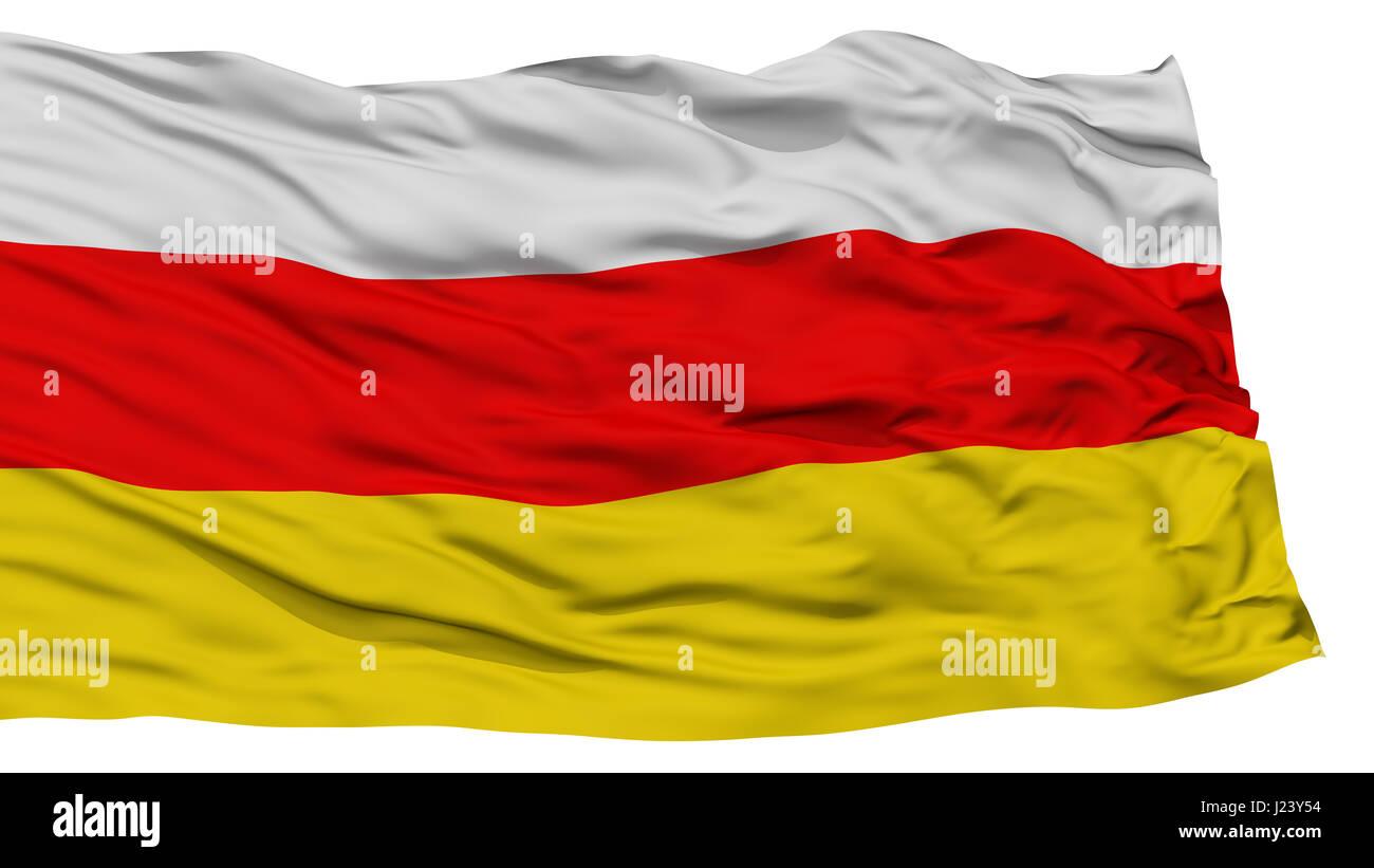 Isolated South Ossetia Flag - Stock Image