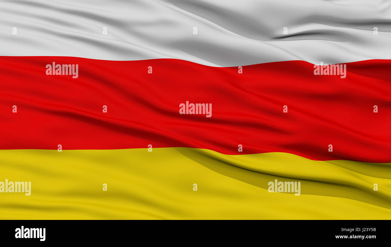 Closeup South Ossetia Flag - Stock Image