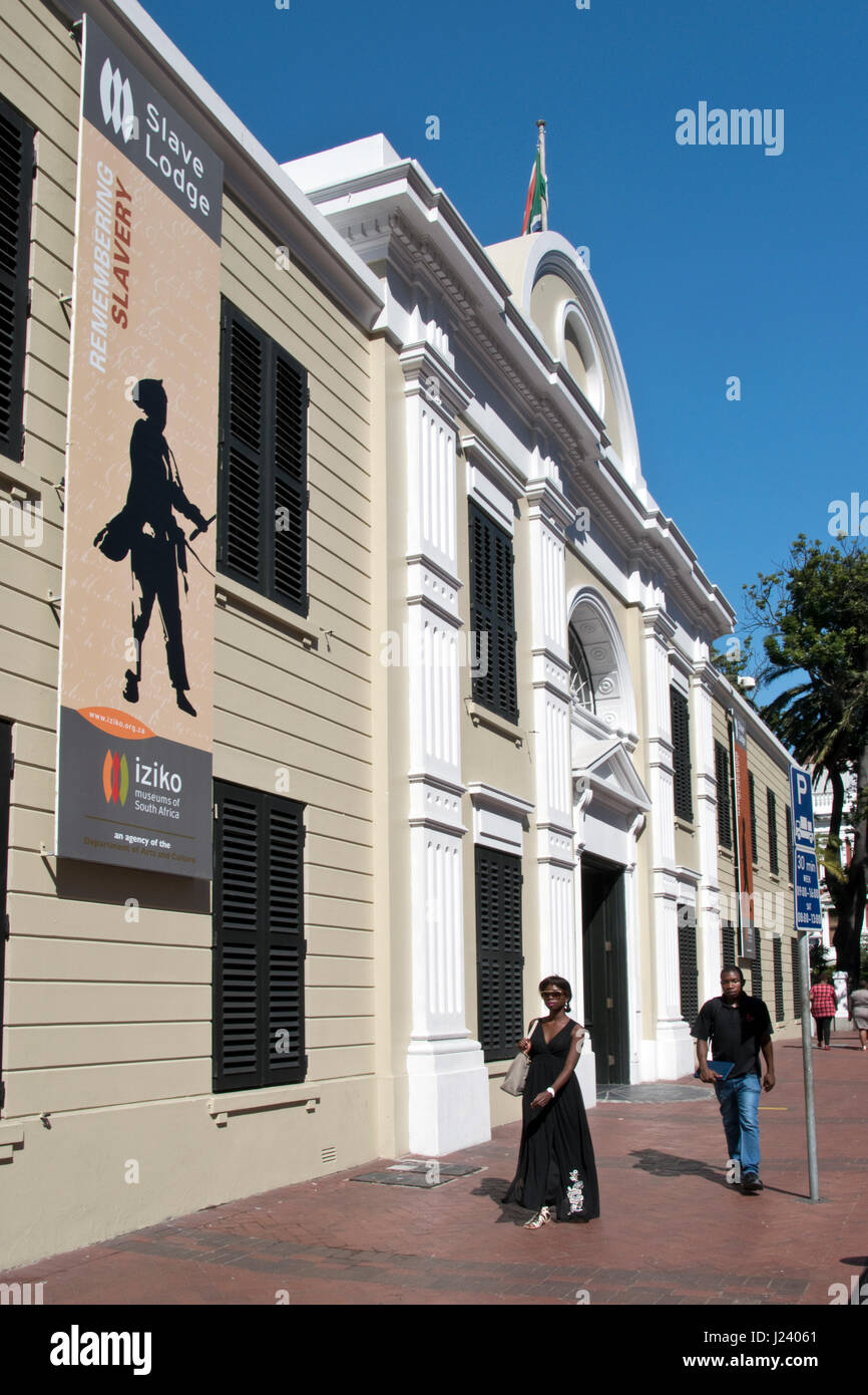 The Slave Lodge museum of South African slavery in Cape Town, South Africa. - Stock Image