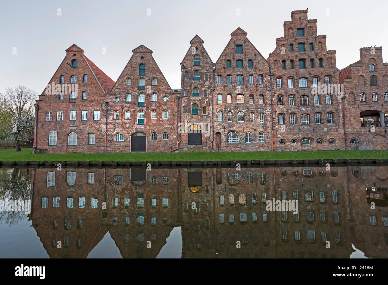 Store of salt at Trave, Lübeck, Schleswig-Holstein, Germany, Europe - Stock Image