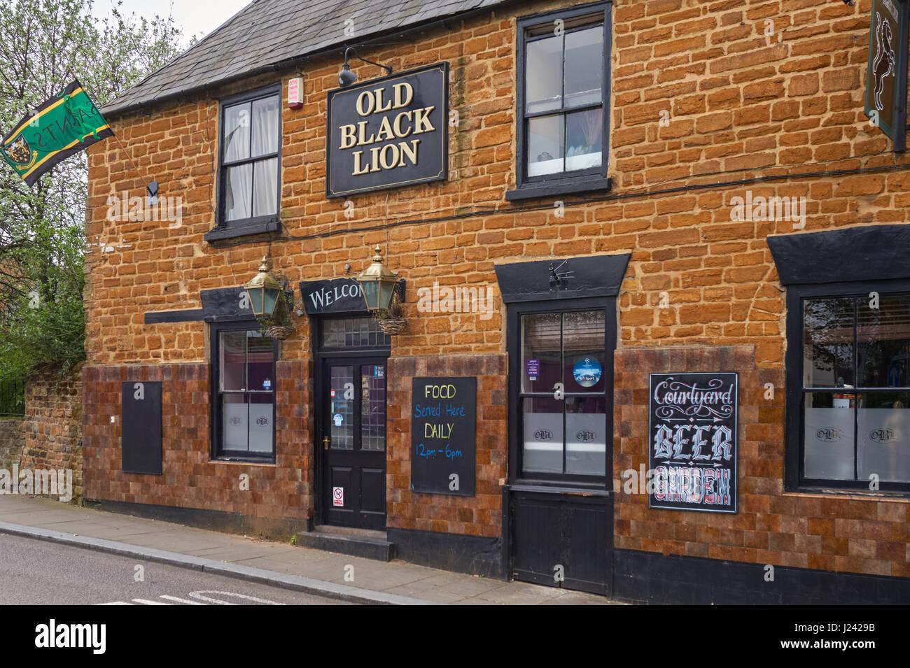 Old Black Lion pub in Northampton England United Kingdom UK - Stock Image