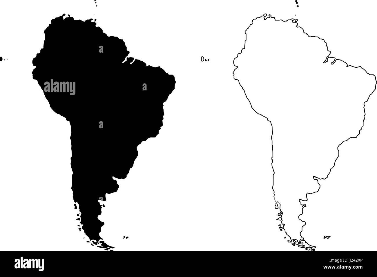Latin America Map Vector Stock Photos Latin America Map Vector