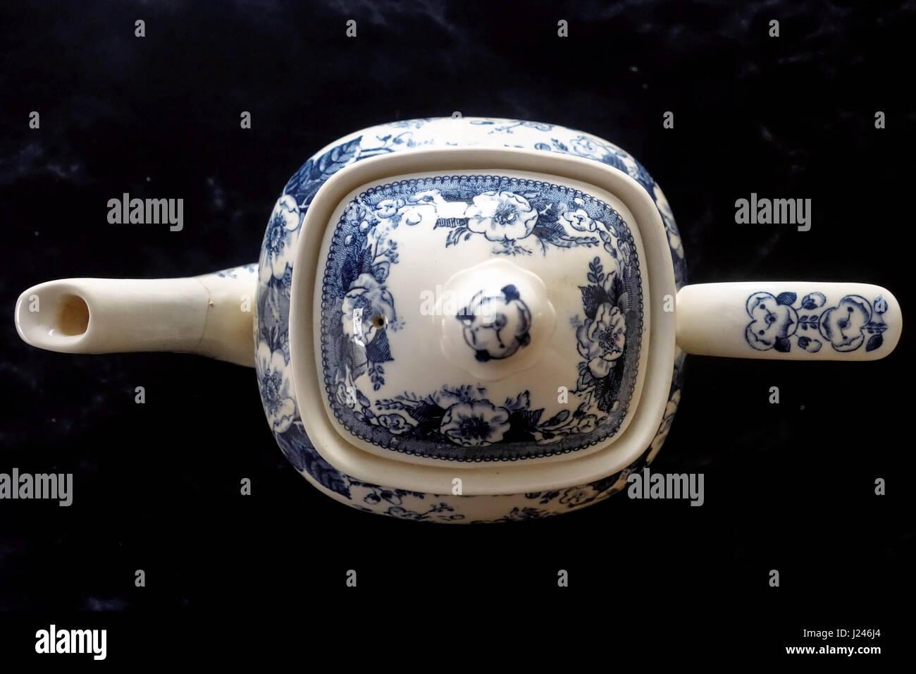 Old China Tea Pot - Stock Image