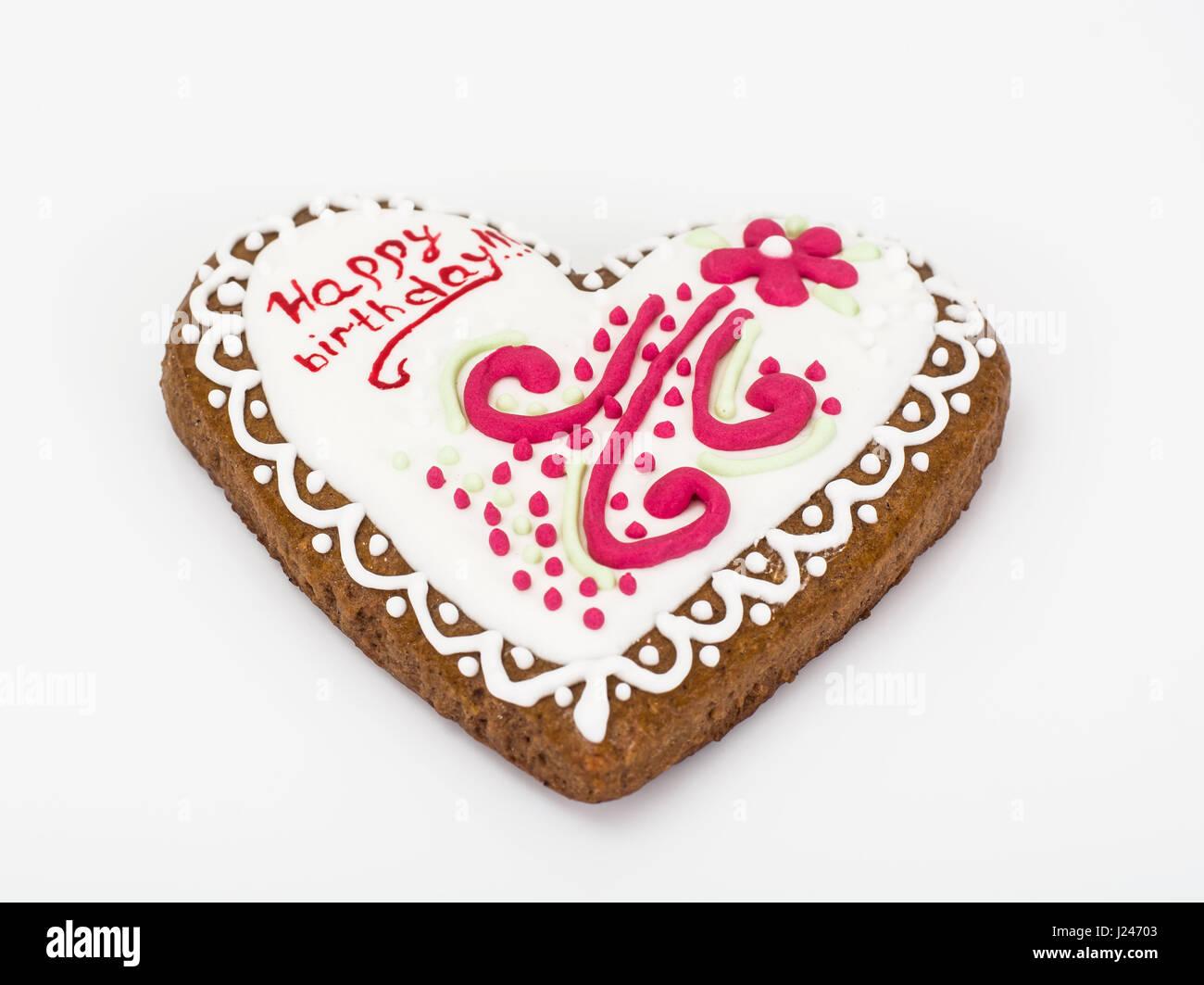 Honey Gingerbread Birthday Cakes Studio Photo Stock Photo