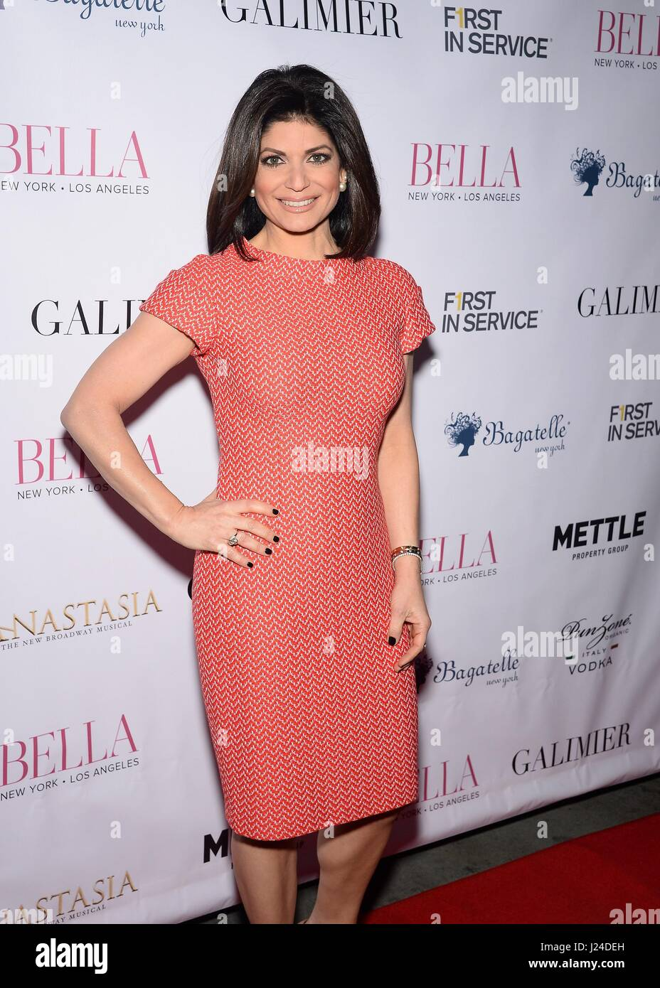 New York, NY, USA. 24th Apr, 2017. Tamsen Fadal at arrivals for BELLA New York Spring Issue Cover Party, Bagatelle, Stock Photo
