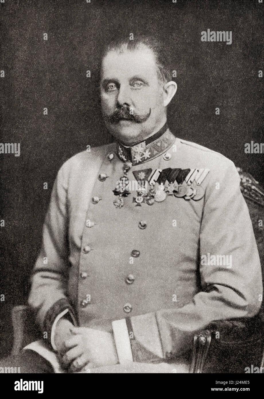 Franz Ferdinand Carl Ludwig Joseph Maria , 1863 – 1914.  Archduke of Austria-Este, Austro-Hungarian and Royal Prince - Stock Image