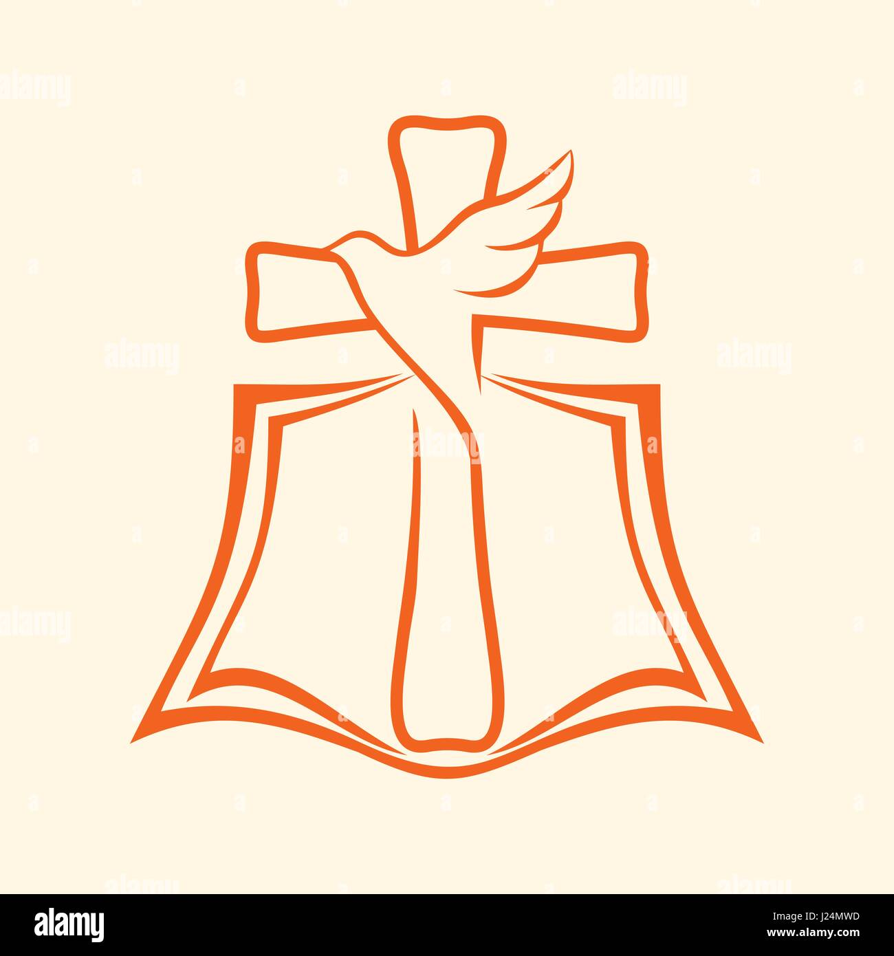 Church logo christian symbols bible cross and dove stock vector church logo christian symbols bible cross and dove altavistaventures Choice Image