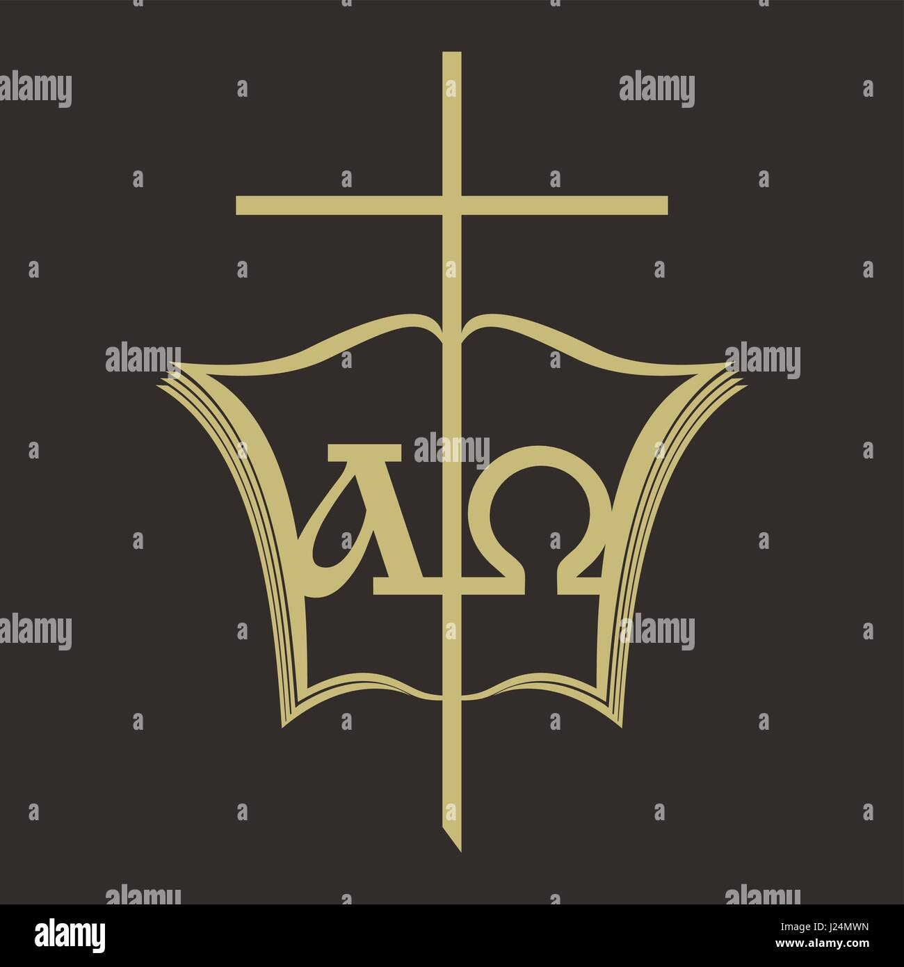 Church Logo Christian Symbols Open Bible The Cross Of Jesus