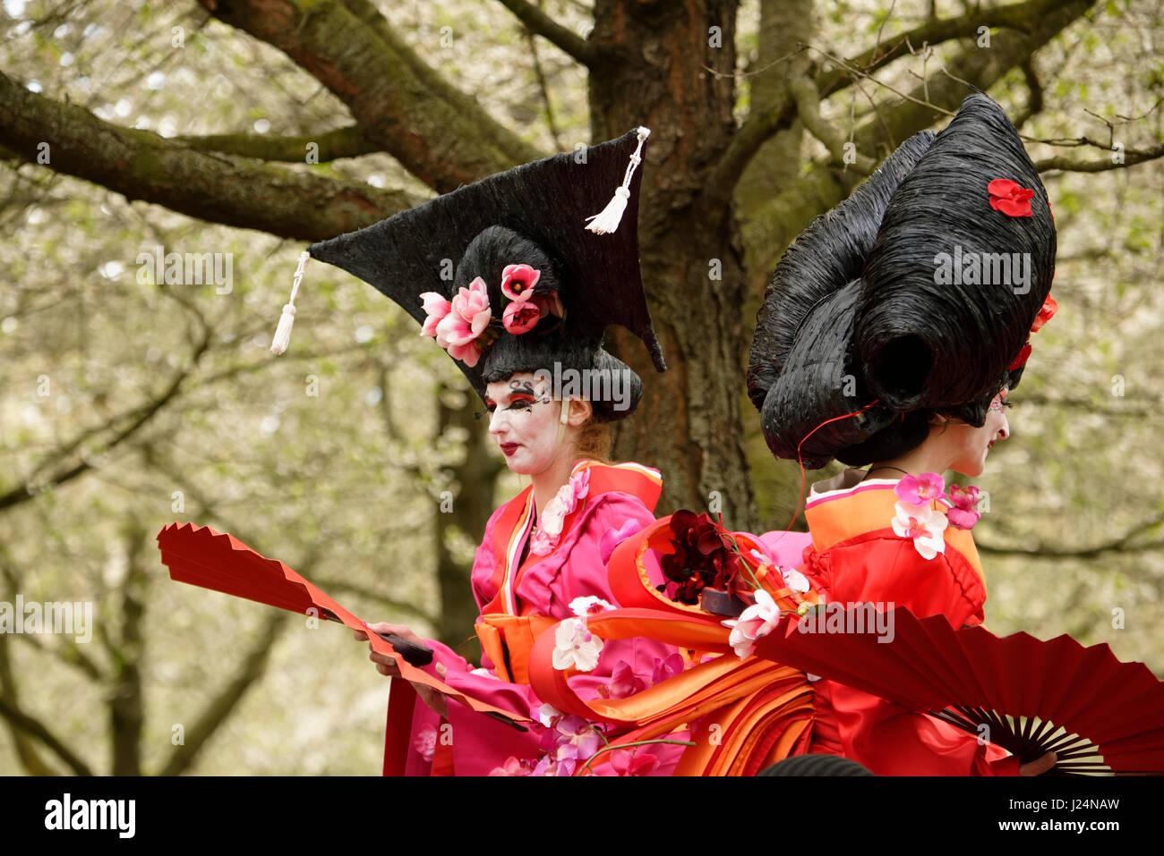 Hiroshima-das Kirschblütenfesti in Hannover. - Stock Image