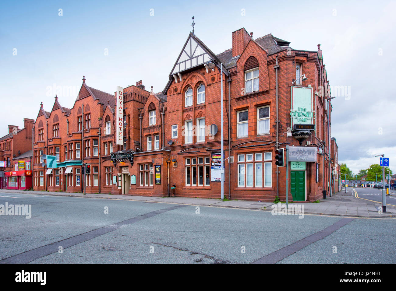 The Royal Hotel on Nantwich Road in Crewe Cheshire UK - Stock Image