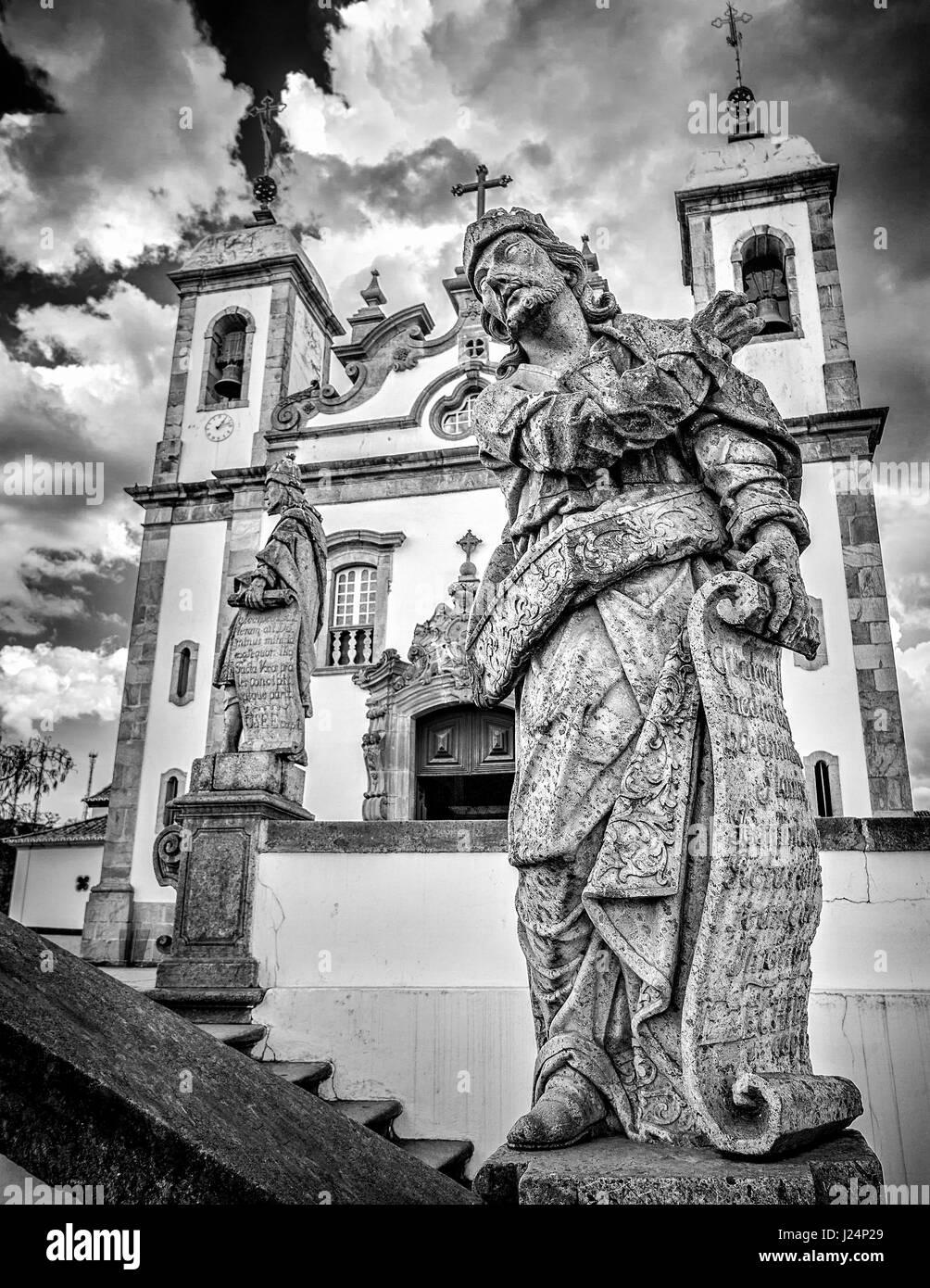 Prophet Ezekiel at the Basilica do Bom Jesus de Matosinhos in Minas Gerais, Brazil - Stock Image